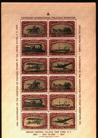 Philatelic Events, 1947 CIPEX Set of 4 Sheets of 12, 48 in all