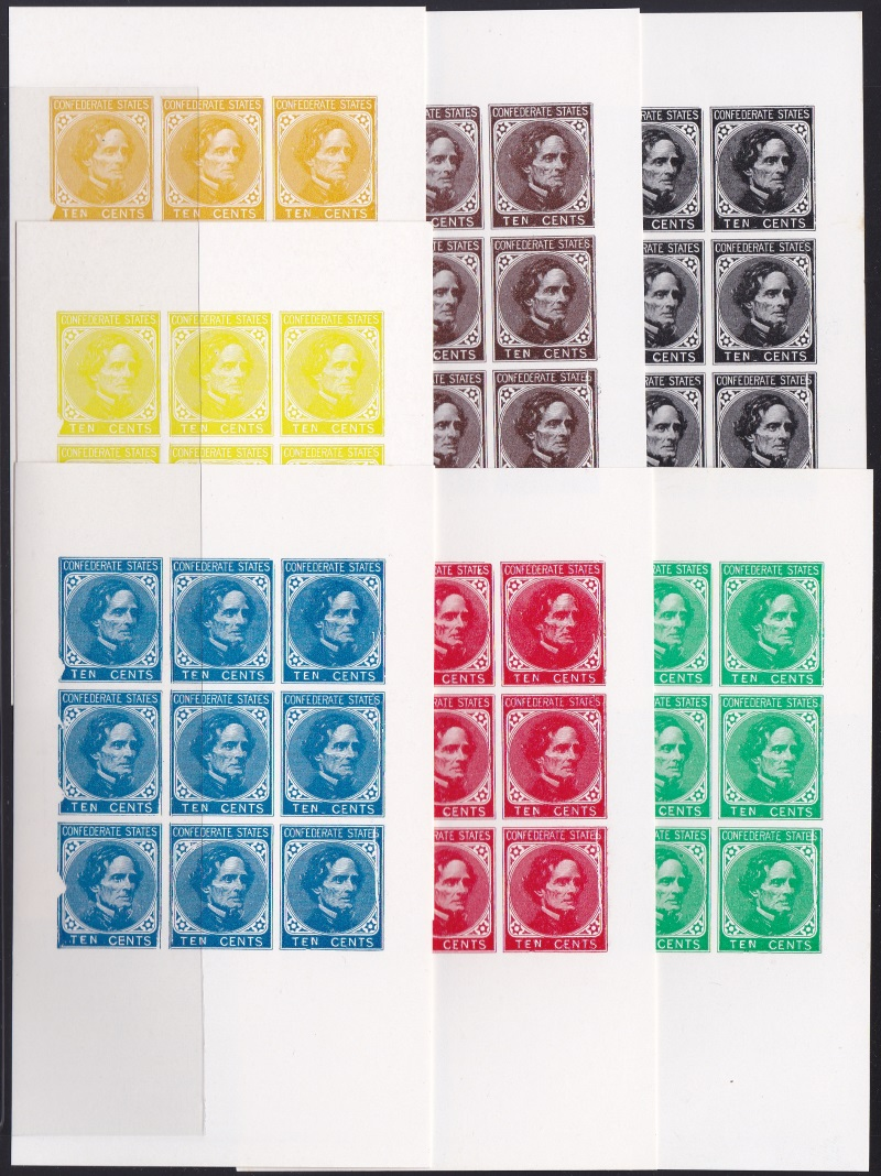 1974 Reprint Un-Issued Confererate Columbus Section
