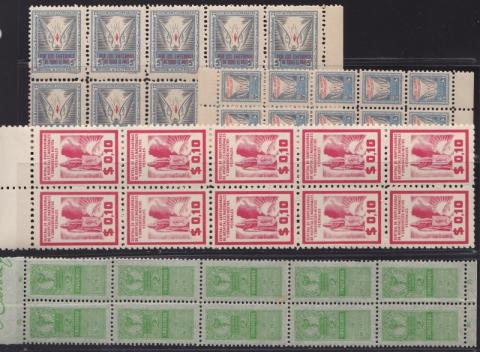 Revenues and Reprints, 40 Brazillian National Hospital Seals (4 different)