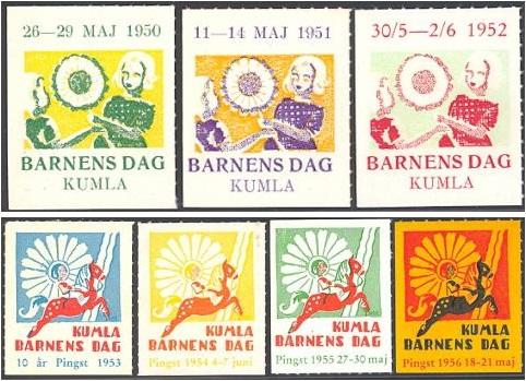 Swedish Funds, Barnes Dag, Kumla, Set of 7 + Pane of 10