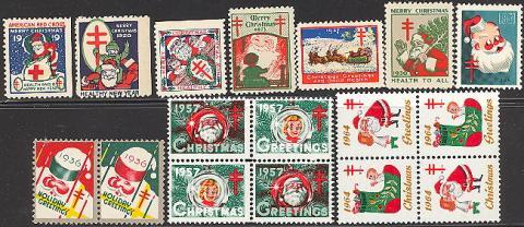 Topical, Santa, US Christmas Seal Set #2