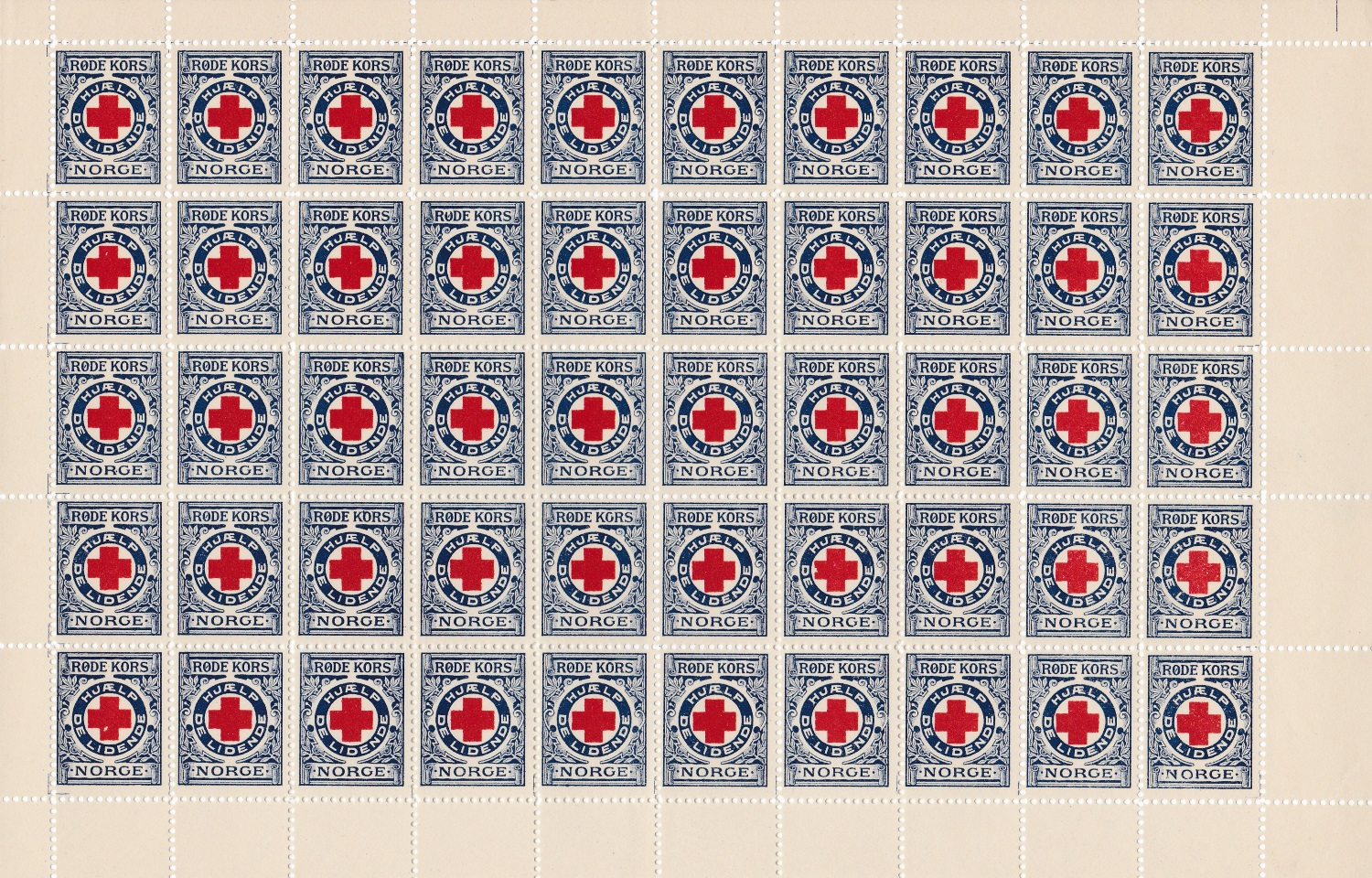 Norway #1x 1911-13 Sheet of 50
