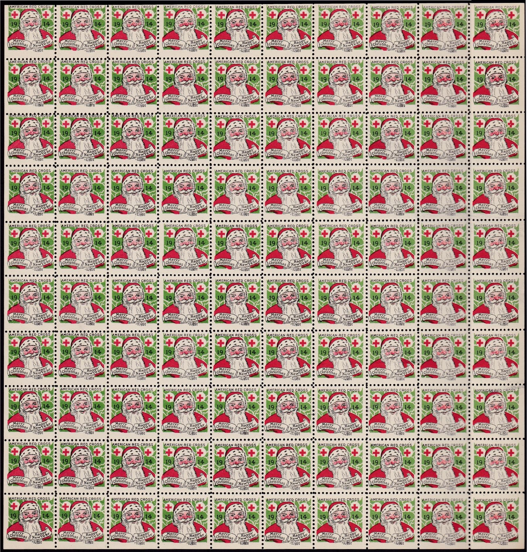 1914 Chicago Lookalike Christmas Seal Sheet,