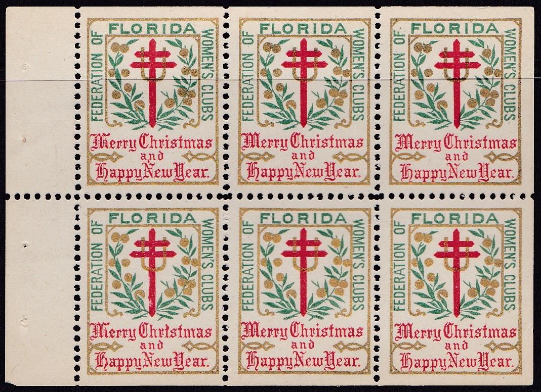 US Local TB #603x Federated Women's Club, Florida 1908 Bklt Pane