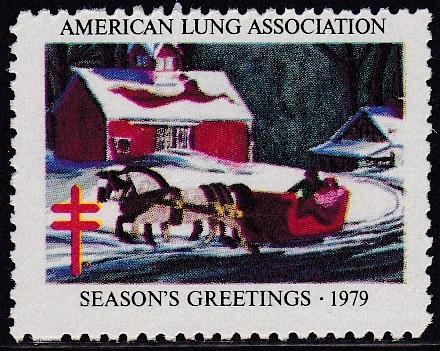 1979 Horse & Sleigh Christmas Seal Design Experiment