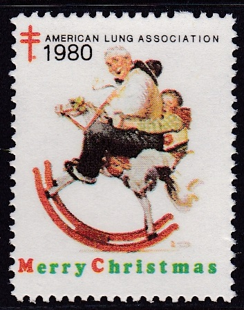 1980 Christmas Seal Rockwell Design Experiment