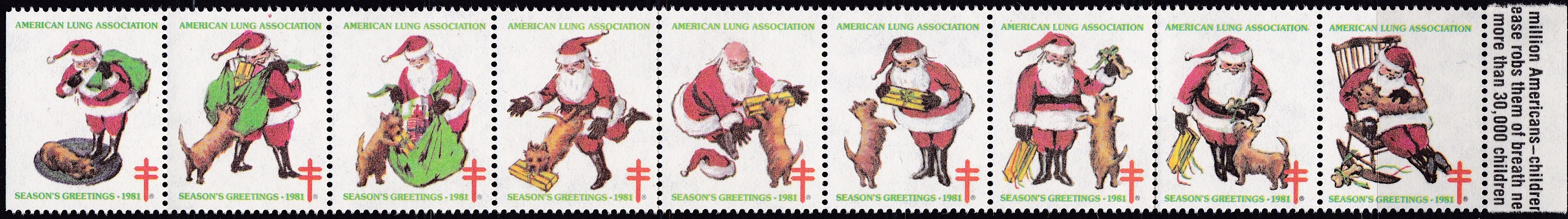 1981 Santa & Dog without gift tags, Design Experiment