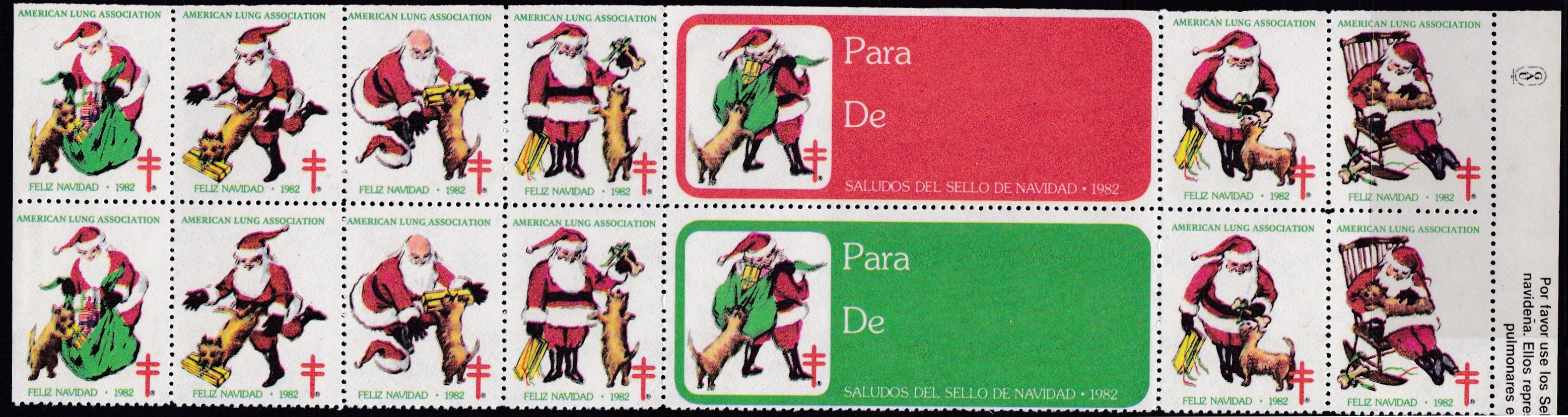 1982 Spanish Text Christmas Seal