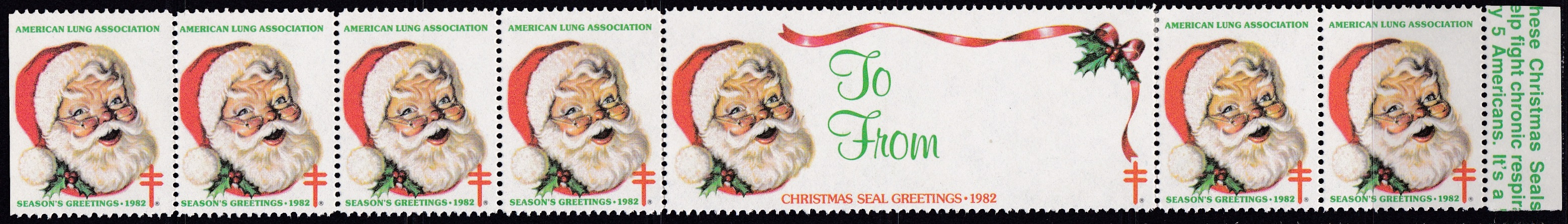 1982 Santa's Face Christmas Seal Design Experiment