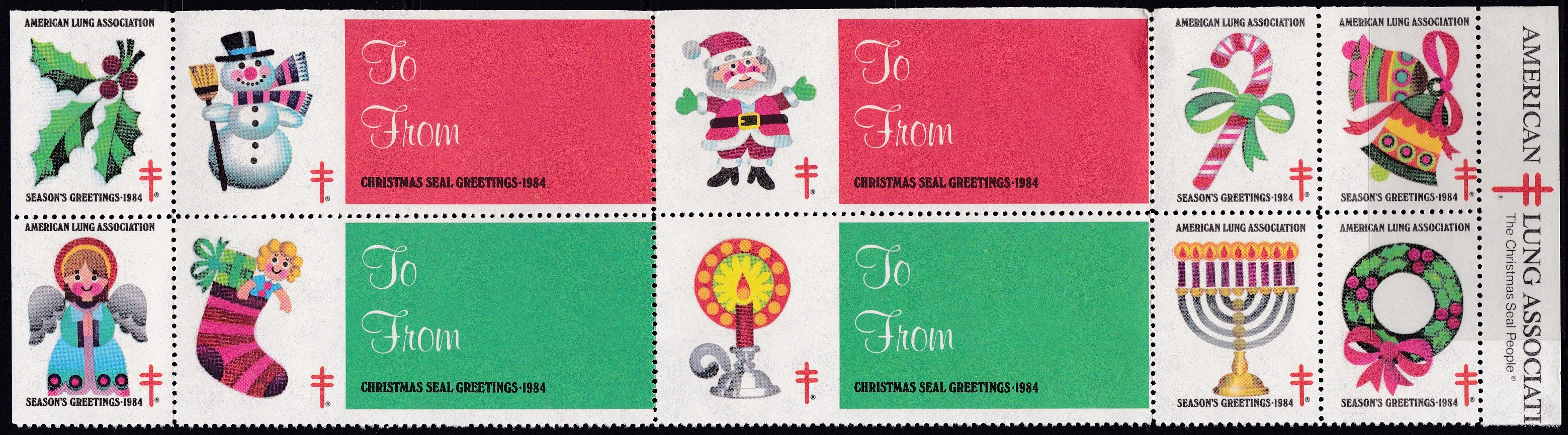 1984 Holiday Themes with extra Gift Tags