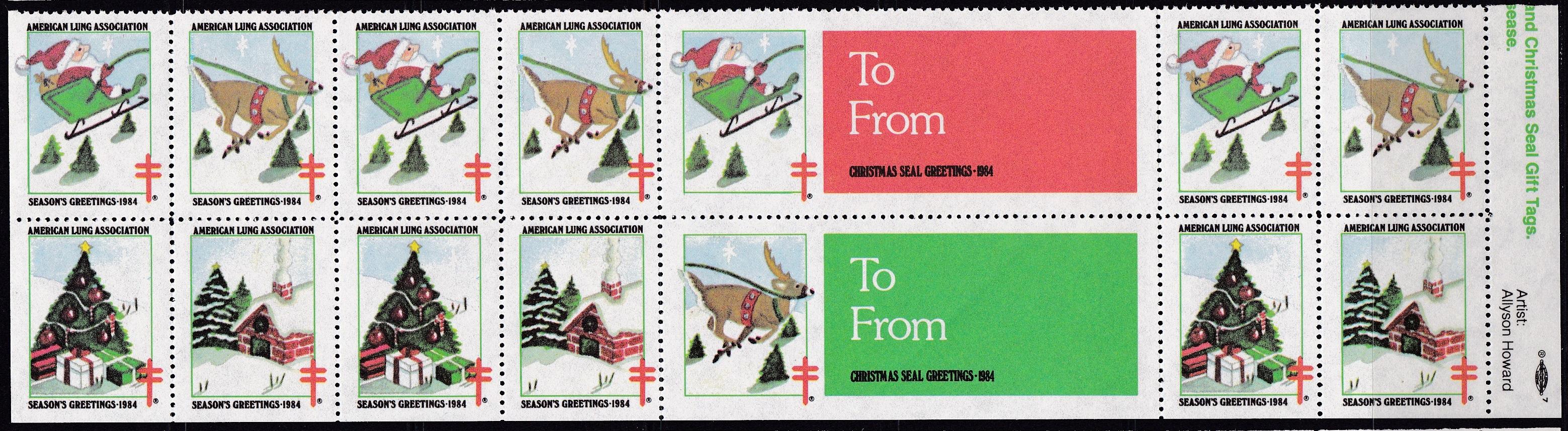 1984 Santa, Sleigh & Reindeer Design Experiment