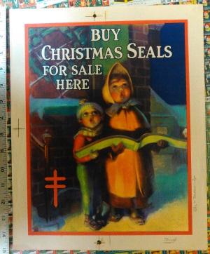 1932 Christmas Seal Poster Proof