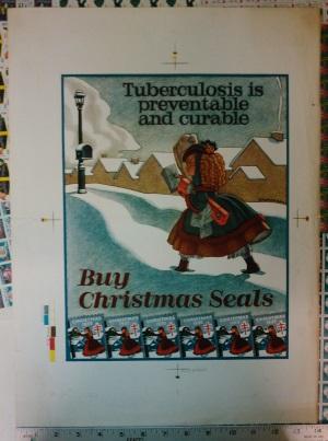 1935 Christmas Seal Poster, Proof