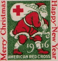 1916 US Christmas Seal, yellow green proof