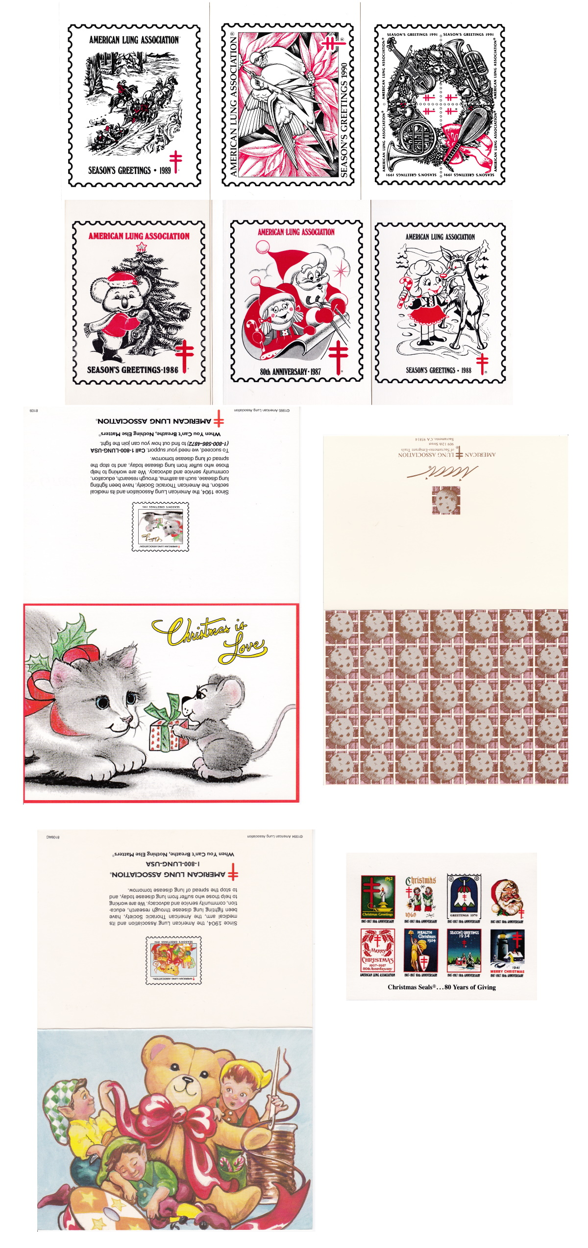 American Lung Association Christmas Seal Greeting Cards