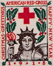 1918 type 1 US Christmas Seal