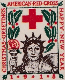 1918 type 1 US Christmas Seal