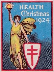 1924 US Christmas Seal, Scalloped Cape essay