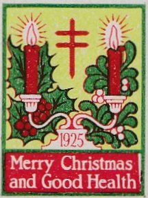 1925 type 1 US Christmas Seal