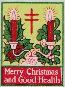 1925 type 1 US Christmas Seal