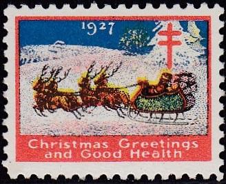 1927 type 2 US Christmas Seal