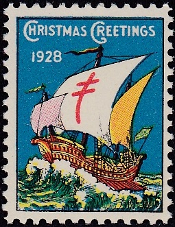 1928 type 1 US Christmas Seal