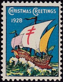 1928 type 1 US Christmas Seal