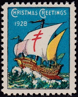 1928-3 US Christmas Seal, perforation 12 1/2