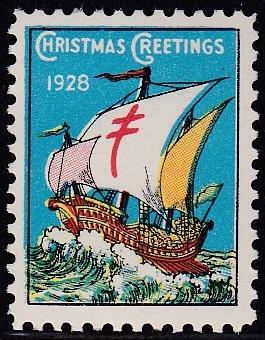 1928 US Christmas Seal essay
