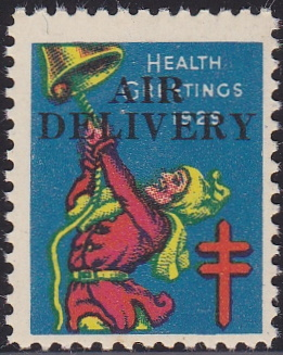 Michigan Local TB Christmas Seal, 1929 Air Delivery Overprint #1175