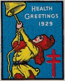 "1929 US Christmas Seal ""Yellow Jacket"" essay"