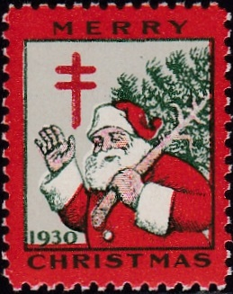 1930 US Lookalike Christmas Seal, English Canadian