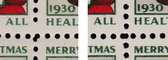 1930 US Christmas Seal booklet pane of 10, perforation 12 x 12T