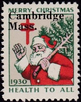 "1930 US Christmas Seal with local ""Cambridge"" overprint"