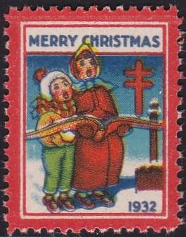 1932 plate A US Christmas Seal