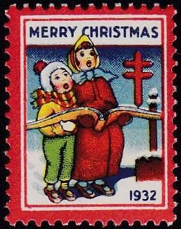 1932 plate B US Christmas Seal
