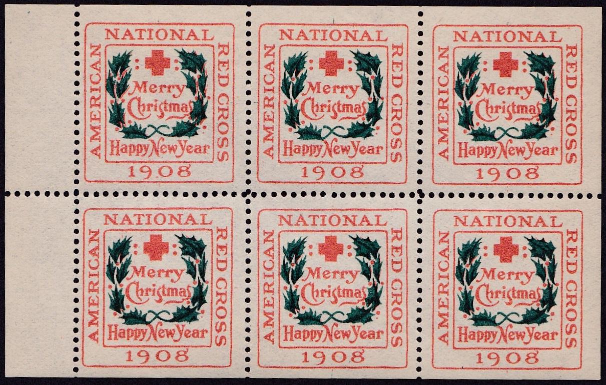 1908 type 2 bklt pane of 6
