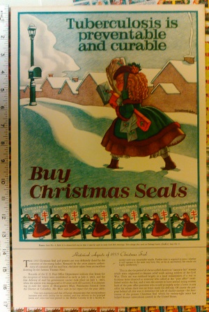 1935 Christmas Seal Poster with text