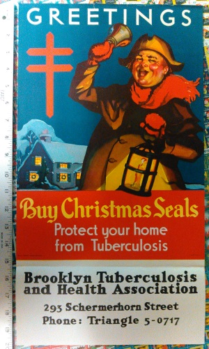 1937 Christmas Seal Poster with text