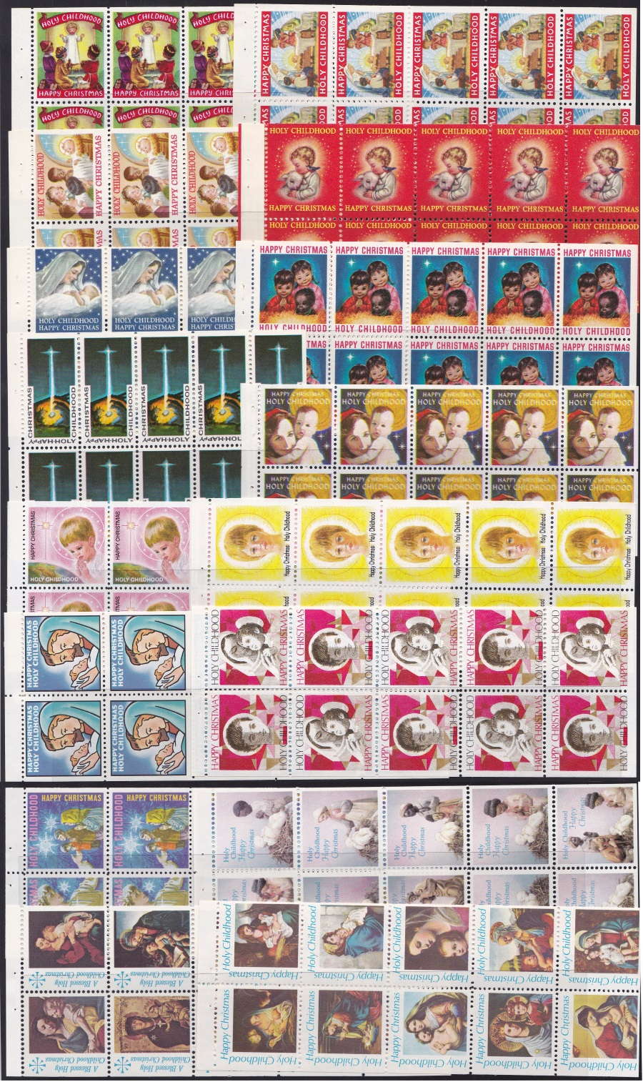 Holy Childhood Christmas Seal Booklet Pane Collection