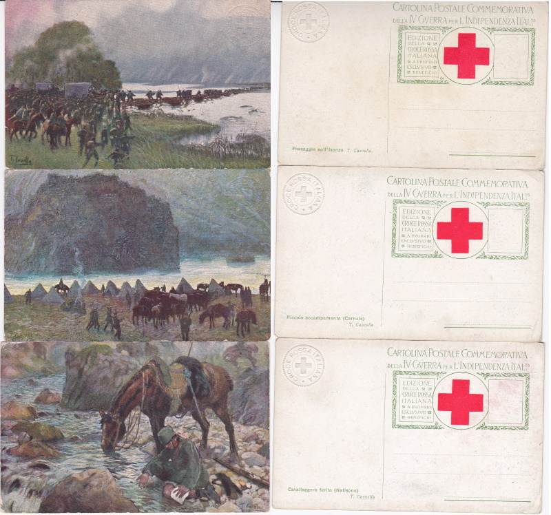 Italian WW1 Red Cross Postcards