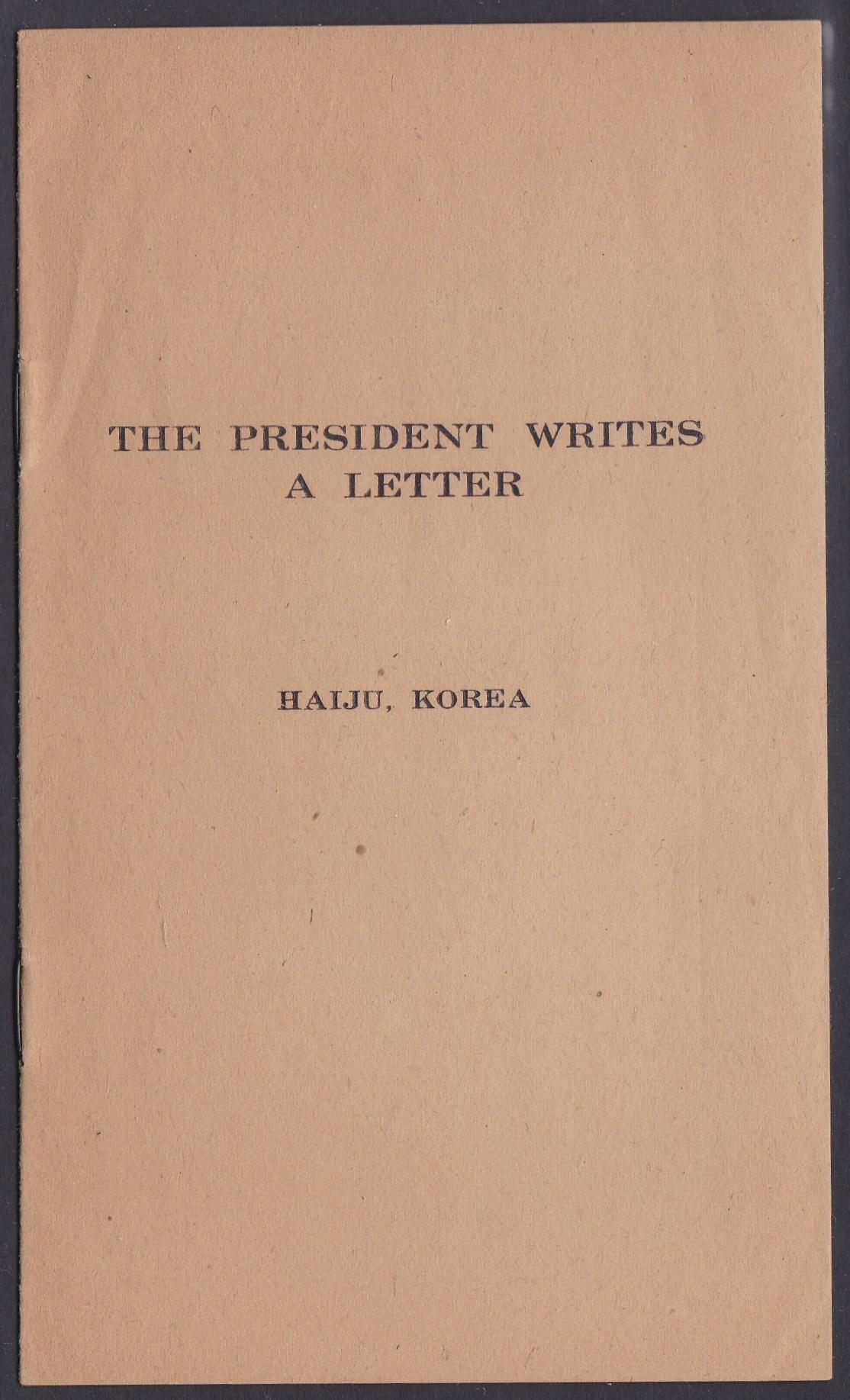 Korean TB 1935 Pamphlet