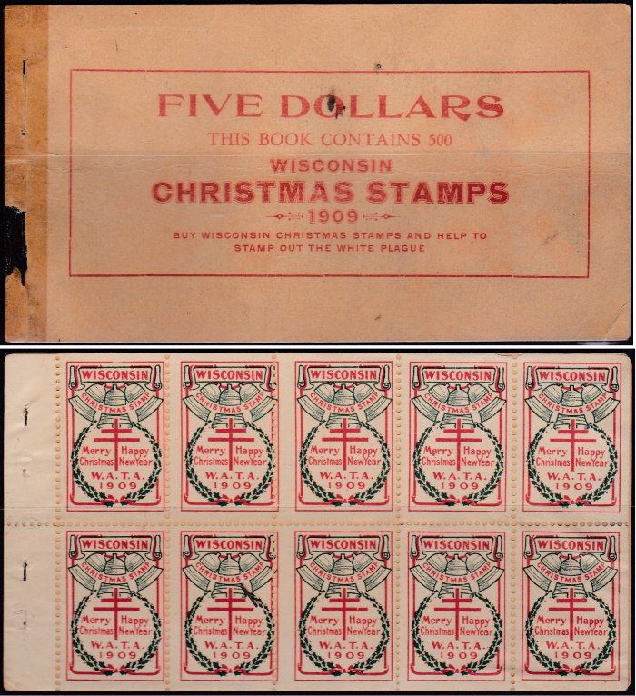1909 Wisconsin Local TB Christmas Seal booklet