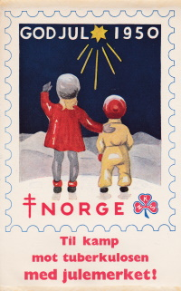 Norway 1950 TB Christmas Seal window label