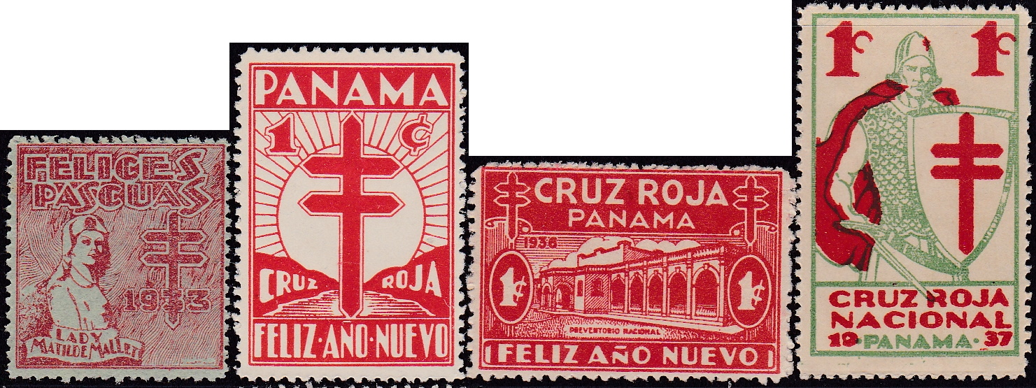 Panama TB Christmas Seals #1-#4