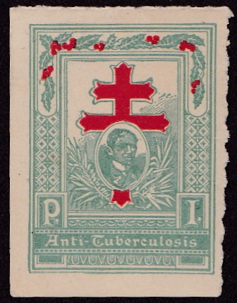 1910 Philippines #1 TB Christmas Seal