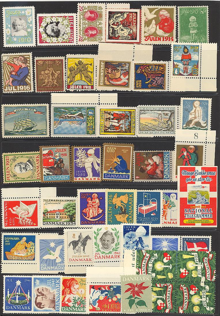 Danish Christmas Seal Collection