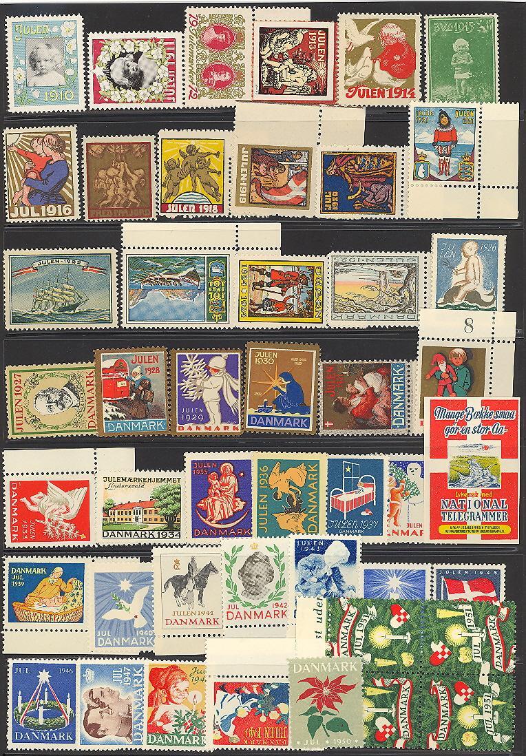 Danish Christmas Seal Collection