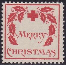 1907 type 1 US Christmas Seal, Fine
