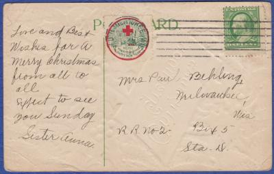 1911 type 2 Christmas Seal Tied On